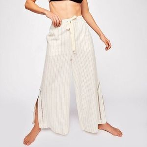 Free People Lounge All Day Wide leg Linen Pant
